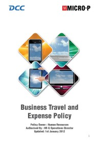 Business Expense Policy HB 2012