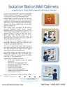 Infection Control Isolation Station Wall Cabinet Brochure