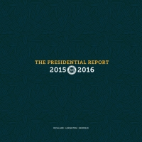 The 2015-2016 Presidential Report